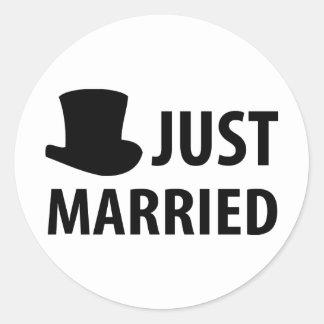 apenas casado etiquetas redondas