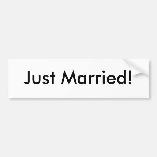 ¡Apenas casado! Pegatina Para Auto