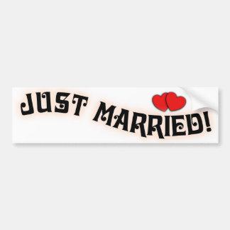 ¡Apenas casado! Pegatinas para el parachoques para Pegatina De Parachoque