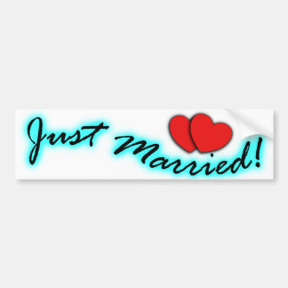 ¡Apenas casado! Pegatinas para el parachoques para Pegatina Para Auto