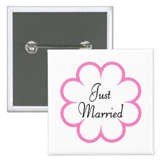 Apenas casado pin cuadrado
