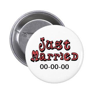 Apenas casado pin redondo 5 cm