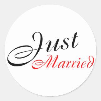 Apenas casado rojo pegatinas