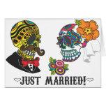 Apenas casado tarjeta de felicitación