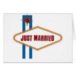 Apenas casado tarjetas