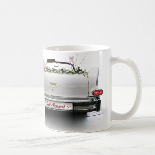 Apenas casado taza de café