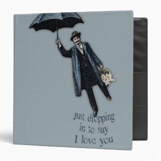 """Apenas cayendo en tarjeta del día de San Valentín Carpeta 1 1/2"""""""