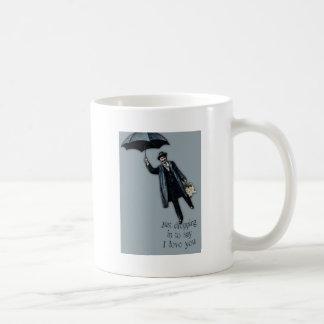 Apenas cayendo en tarjeta del día de San Valentín Taza De Café