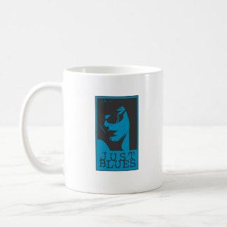 Apenas chica de los azules taza de café