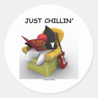Apenas Chillin (duque Mascot Character de Java) Pegatina Redonda
