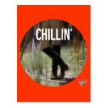 Apenas Chillin en el prado - subtítulo del arte de Postales