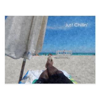 Apenas Chillin @ la playa Tarjetas Postales