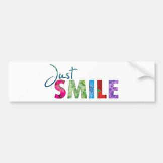 Apenas cita feliz #01 de la sonrisa pegatina para auto
