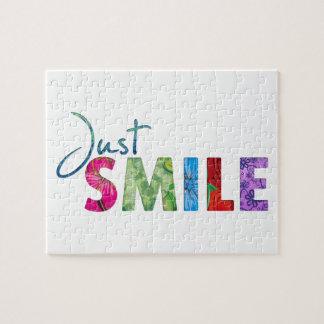 Apenas cita feliz 01 de la sonrisa puzzle