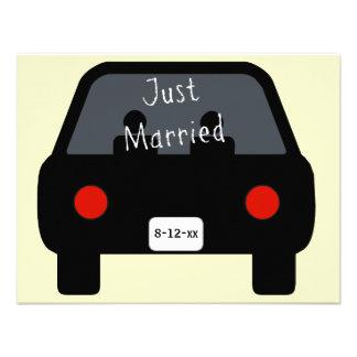 Apenas coche casado anuncio personalizado