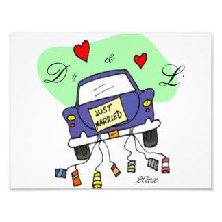 Apenas coche casado fotografías