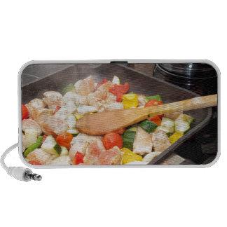 Apenas cocinar la comida iPod altavoces