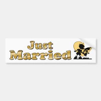 Apenas colores de oro casados de los pares lindos  pegatina para auto