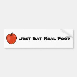 Apenas coma la comida real etiqueta de parachoque