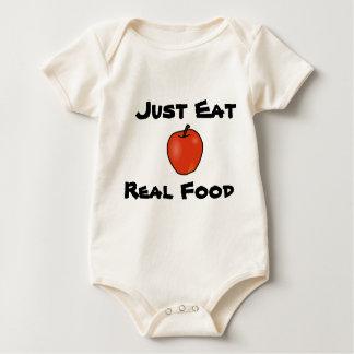 Apenas coma la comida real mameluco de bebé