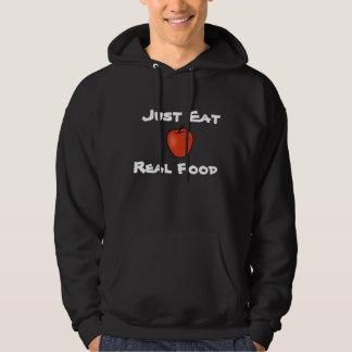 Apenas coma la comida real suéter con capucha