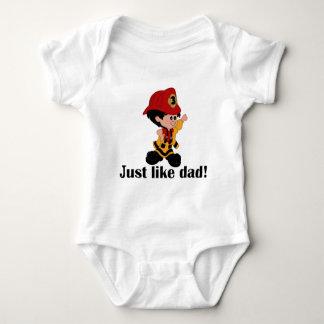 Apenas como papá del bombero t-shirt