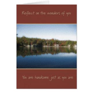 Apenas como usted esté (para el hombre) tarjeta de felicitación