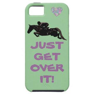 Apenas consiga sobre él el puente del caballo iPhone 5 fundas