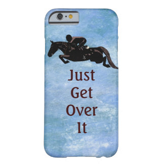 Apenas consiga sobre él el salto del caballo funda de iPhone 6 barely there