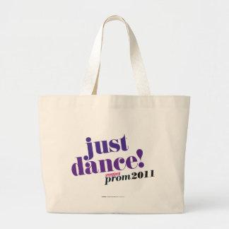 Apenas danza - púrpura bolsa tela grande