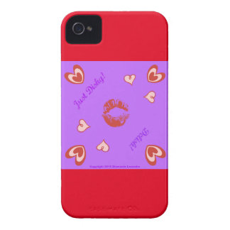 ¡Apenas… Delish Dishy de Diamante Lavendar! iPhone 4 Case-Mate Cobertura