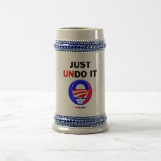 Apenas deshágalo jarra de cerveza