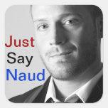 Apenas diga a los pegatinas de Naud
