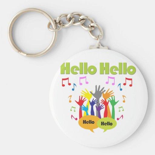 Apenas diga… Hola hola Llaveros Personalizados