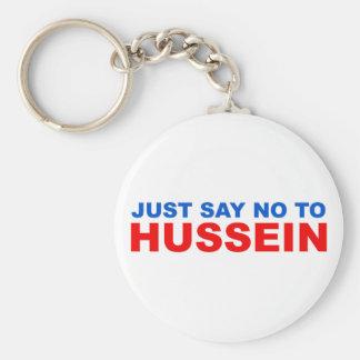 Apenas diga NO a Hussein Llavero Redondo Tipo Pin