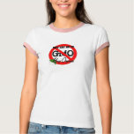 Apenas diga NO a la camiseta de las señoras de GMO Remera