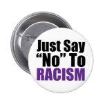 Apenas diga no al racismo pin