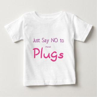 Apenas diga no (el rosa) playera de bebé