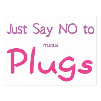 Apenas diga no (el rosa) tarjetas postales