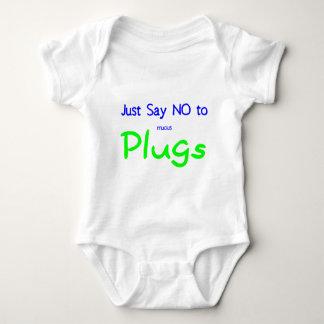 Apenas diga no (el verde) body para bebé