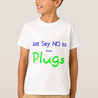 Apenas diga no (el verde) playera