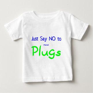 Apenas diga no (el verde) playera de bebé