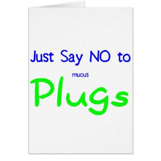 Apenas diga no (el verde) tarjeta de felicitación