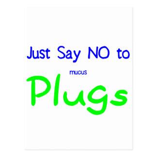 Apenas diga no (el verde) tarjetas postales