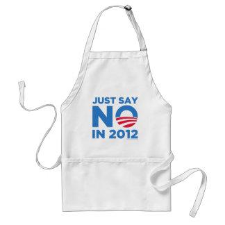 Apenas diga NO en 2012 Delantal