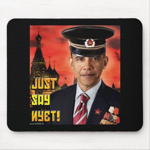 ¡Apenas diga Nyet! Mousepad Tapetes De Ratones