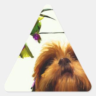Apenas dígales la verdad pegatina triangular