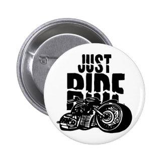 Apenas diseño de la motocicleta del paseo pin redondo de 2 pulgadas