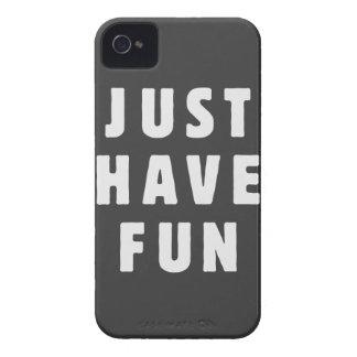 Apenas diviértase Case-Mate iPhone 4 funda
