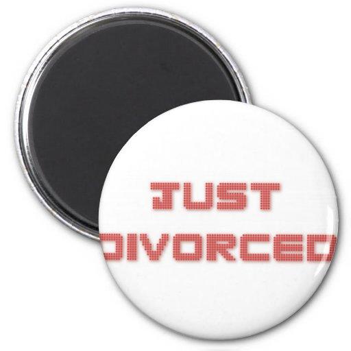 Apenas divorciado imán redondo 5 cm